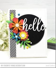 Die-namics: Hello, Stitched Blooms — Jodi Collins #mftstamps