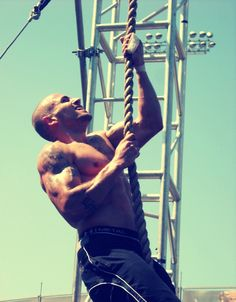 I hate rope climbs but really like this picture