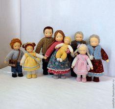 Купить Семья - вальдорфская кукла, вальдорфская игрушка, игровая кукла, детская кукла, текстильная кукла