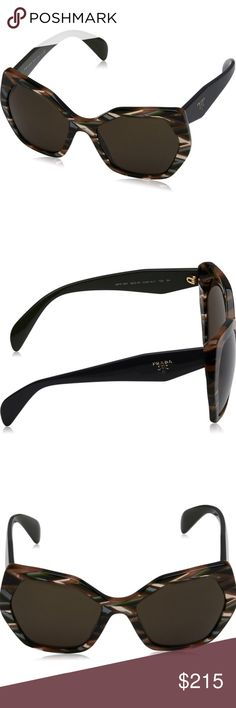 NWT Authentic Prada Womens SPR16Q Sunglasses 100% AUTHENTIC / Genuine & Brand NEW Prada Sun Glasses Shades Sunnies   Gender: Woman, Women's, Female Color: Grey/Brown/Dark Green Eye/Bridge/Temple: 131/56/135 Frame Material: Acetate Integrated nose guard  These Prada sunglasses are made with the finest materials. With the nice mix of Bold colors you are guaranteed to be the center of attention. Looks best on an oval/round face.  Comes with all Retail Original Packaging including Prada case and…