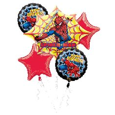Bouquets de Ballon - Spider-Man Birthday Star Wars Party, Man Birthday, Birthday Ideas, Bowser, Spiderman, Balloons, Superhero, Stars, Bouquets