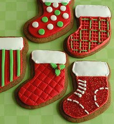 Cute patterned stocking cookies