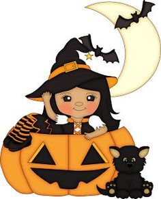 Halloween - girl in jack o'lantern