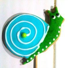 Galleta decorada caracol