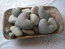 rock hearts- have some of these and love love love them, found on beaches in CA and FL>