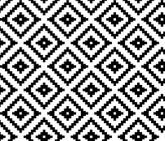Aztec // black fabric by littlearrowdesign on Spoonflower - custom fabric