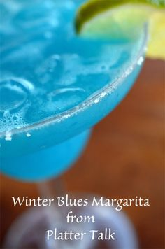 Winter Blues Margarita