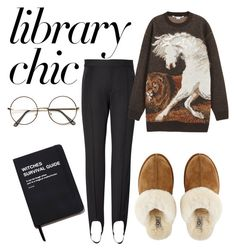 """Library chic"" by ralugoii on Polyvore featuring STELLA McCARTNEY, UGG, Killstar and finals"