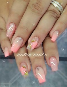 35 terrific nude nail design ideas you can't pass by page 12 Sexy Nails, Classy Nails, Fancy Nails, Nude Nails, Pretty Nail Colors, Pretty Nails, Work Nails, Cute Acrylic Nails, Encapsulated Nails