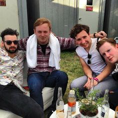 This picture is so adorable Two Door Cinema Club