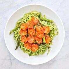 Spaghetti with Lemon Kale Pesto