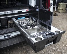 DECKED full bed length drawers keep your organized and prepared when traveling off the grid. Jeep Camping, Pickup Camping, Camping Trailer Diy, Truck Bed Camping, Camping Box, Van Camping, Camping Canopy, Overland Tacoma, Overland Truck