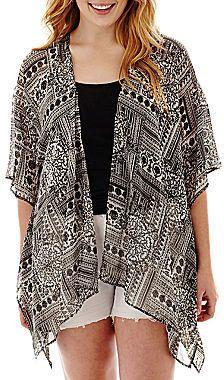 Plus Size Chiffon Kimono - Plussize