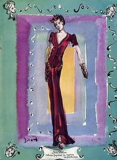 Jean Patou, illus Christian Berard, 1938
