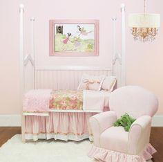 Joie De Vivre Toddler Bedding Set by Doodlefish, Toddler Bedding, Bedding for Girls
