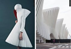 From Fasionable Architecture: Kamila Garwroska vs. Avangard Fashion, Retro Fashion Mens, Fashion Details, Fashion Show, Fashion Dresses, Architect Fashion, Fashion Architecture, Origami Fashion, Fashion Sketchbook