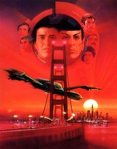"""Star Trek IV: The Voyage Home"" (1986) poster artwork by Bob Peak."