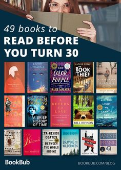 A list of books to read before you turn 30 including books that everyone should read. Don't miss this classic reading list. Feel Good Books, Great Books To Read, Best Books Of All Time, Books To Read Before You Die, Books To Read For Women, Book Club Books, Book Lists, The Book, Book Suggestions