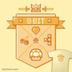 8-Bit #8bit #arkadyzaifman #arkzai #crest #gaming #pacman #shield #supermariobros #tetris #videogame