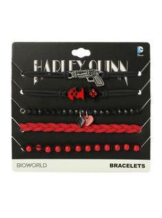 DC Comics Harley Quinn Cord Bracelet 5 Pack   Hot Topic