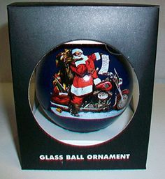 Ball Ornaments, Christmas Ornaments, Harley Davidson Gifts, Glass Ball, Bulb, Santa, Amazon, Antiques, Antiquities