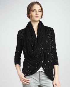 Hillsy Sequined Wrap by Alice + Olivia at Neiman Marcus.