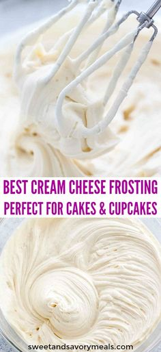 Cream cheese frosting cake - Cream Cheese Frosting makes the perfect frosting recipe that can be used on either cupcakes or layer cakes frosting creamcheese creamcheesefrosting dessertrecipes sweetandsavorymeals cakes cup Köstliche Desserts, Delicious Desserts, Food Cakes, Cupcake Cakes, Muffin Cupcake, Cream Cheese Recipes, Cream Cheeses, Cream Cheese Icing Recipe For Cake, Cake Icing Recipe Powdered Sugar