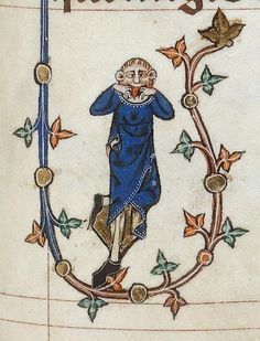 Monday Face (@BLMedieval, Add 49622, 14th c.)