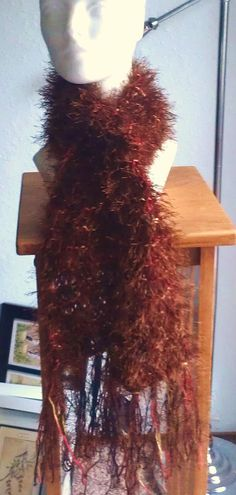 Chocolate with Sprinkles knit Scarf by AJoyfulCreation on Etsy, $30.00