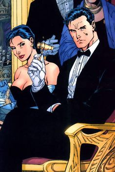 Selina Kyle and Bruce Wayne by Jim Lee