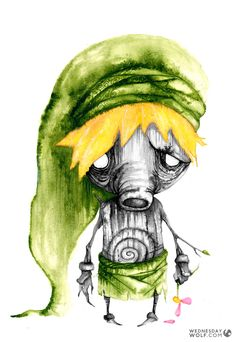 Deku Matte Print by WednesdayWolf on Etsy Wind Waker, Twilight Princess, Breath Of The Wild, Fantasy Inspiration, Legend Of Zelda, Fine Art Paper, Original Paintings, Wolf, Fan Art
