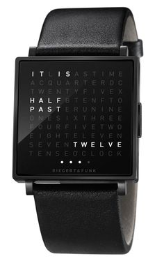 Qlocktwo W Black | Watchismo.com