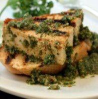 Grilled Tofu with Chimichurri Sauce