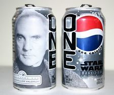 Star Wars Episode I The Phantom Menace Pepsi One Chancellor Vallorum Soda Can