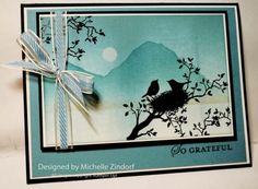 Peaceful Evening Stampin' Up! Card created by Michelle Zindorf