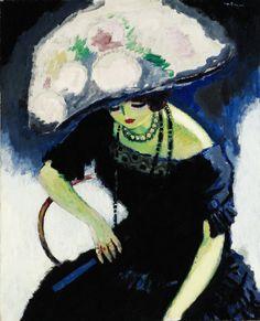 5 -- 1910 Kees Van Dongen F au Chapeau de Roses Sotheby's N Art And Illustration, Art Fauvisme, Maurice De Vlaminck, Art Amour, Raoul Dufy, Dutch Painters, Dutch Artists, Art Moderne, Modern Artists