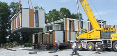Building Off-Site with Permanent Modular Construction Prefab Buildings, Container Cabin, Email Marketing Services, Prefab Homes, Construction, Architecture, Technology, Projects, House