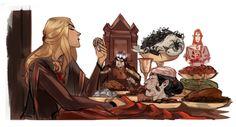 Gloomy dinners Sauron and Melkor\by Phobs