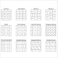 Tile Laying Patterns, Subway Tile Patterns, Floor Patterns, Brick Patterns, Beveled Subway Tile, Ceramic Subway Tile, Subway Tile Kitchen, Subway Tile Fireplace, Fireplace Tile Surround