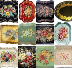 love these beautiful tole trays