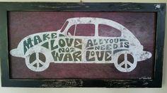 Rare Volkswagon Beetle Bug Mdf Wood Sign Office Man Cave Garage  Women Retro #Volkswagon #Beetle