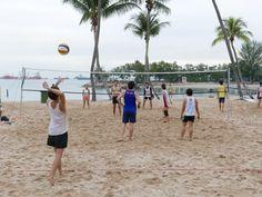 Beach Volleyball, Sentosa Island, Singapore