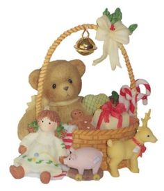 Cute teddy with some toys...