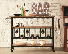 Find bar carts and other barware accessories at Wayfair. Enjoy shopping our vintage bar carts and everything in between! Glass Furniture, Furniture Design, Diy Furniture, Wine In The Woods, Wine Cart, Floating Glass Shelves, Vintage Industrial Furniture, Industrial Design, Glass Rack