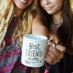 These mugs are really the BEST EVER! Show your best friends how loved they are with this sweet, 12oz ceramic mug with gold metallic printing.