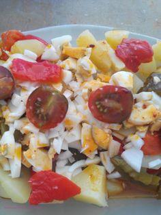 Ensalada de pimientos rojos y verdes asados al horno  http://www.crochetenlasnubes.com/?cat=9