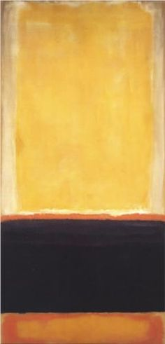 "Mark Rothko - ""Yellow, Charcoal, Brown"" This is brilliant! I am so excited to start on mine."