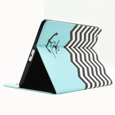 For+iPad+4/3/2+Wave+Pattern+Leather+Case+with+Holder+&+Card+Slots+&+Wallet