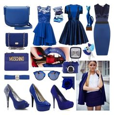 """""""royal blue"""" by beanpod ❤ liked on Polyvore featuring Arca, Dorothy Perkins, L'Agence, WearAll, Lattori, Chanel, Mansur Gavriel, Moschino, Fabulicious and Qupid"""