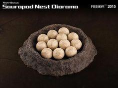Rebor Sauropod Dinosaur Nest Diorama